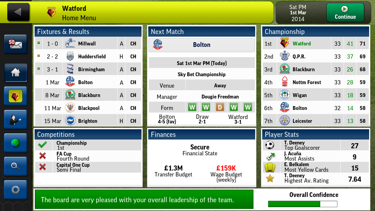 Football Manager Handheld 2014 - screenshot