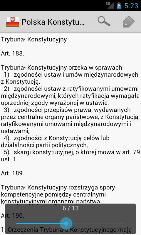Constitution of Poland - screenshot