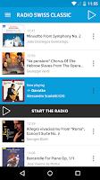Screenshot of Radio Swiss Classic