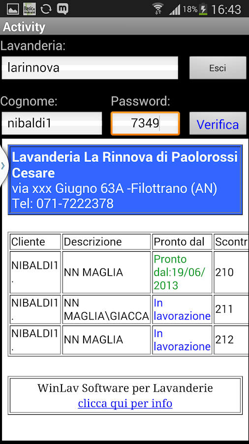 Pronti Web- screenshot