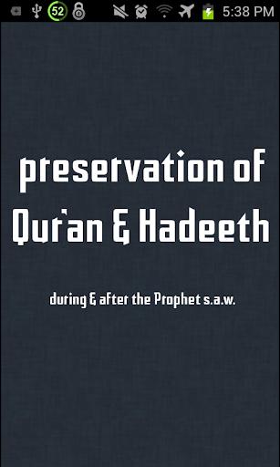 Preservation of Quran Hadith