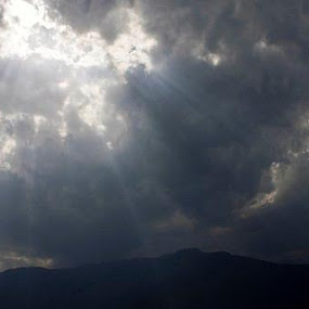 Sunbeam through cloudscapes by Suvra Roy - Landscapes Cloud Formations (  )