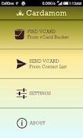 Screenshot of Cardamom : Send vCards via SMS