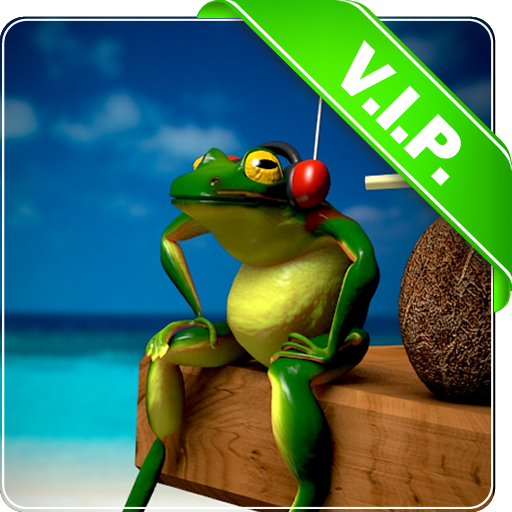 青蛙頭戴式耳機 LOGO-APP點子
