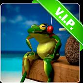 Frog Headphones live wallpaper