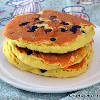 Fluffy Blueberry Pancakes.