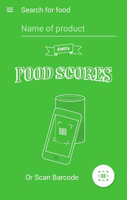 EWG's Food Scores - screenshot