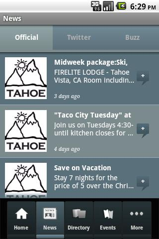 Lake Tahoe Official - screenshot