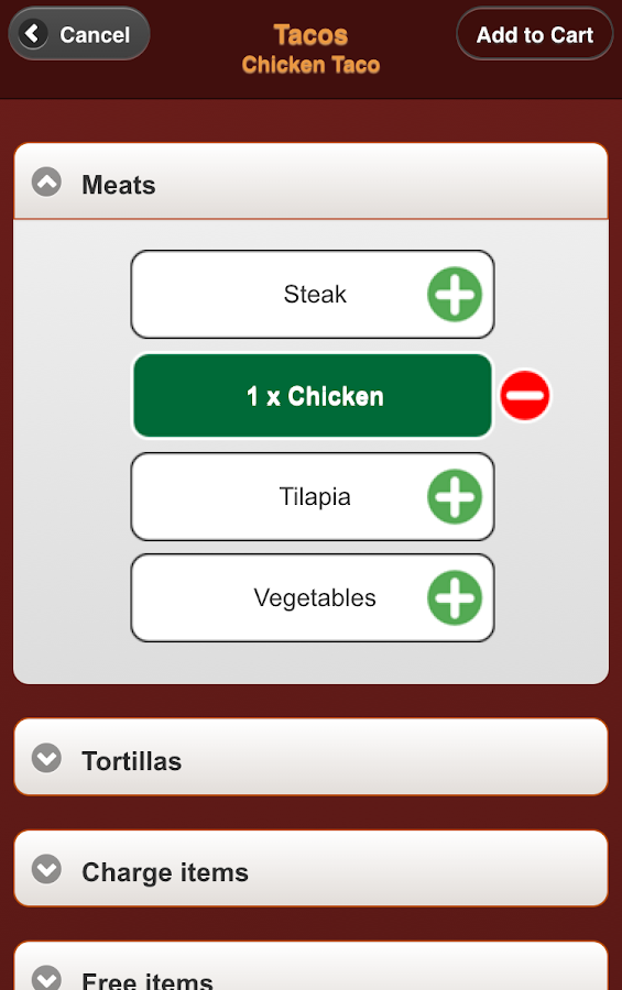 Carbón Mexican Grill Ordering- screenshot