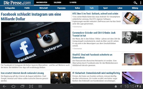 Die Presse - screenshot thumbnail
