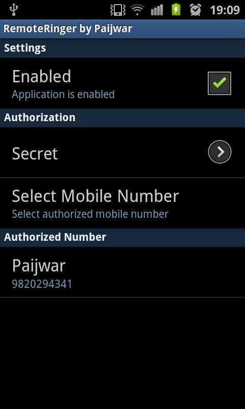 Remote Ringer (FREE) - Paijwar- screenshot