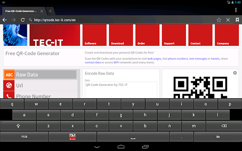 Barcodescanner Keyboard, Demo - screenshot thumbnail