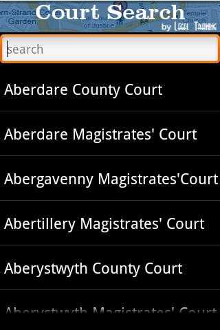 Court Search- screenshot