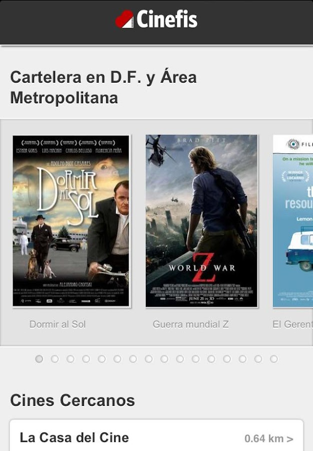 Cinefis- screenshot