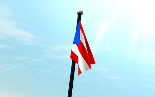 【免費個人化App】波多黎各旗3D動態桌布-APP點子