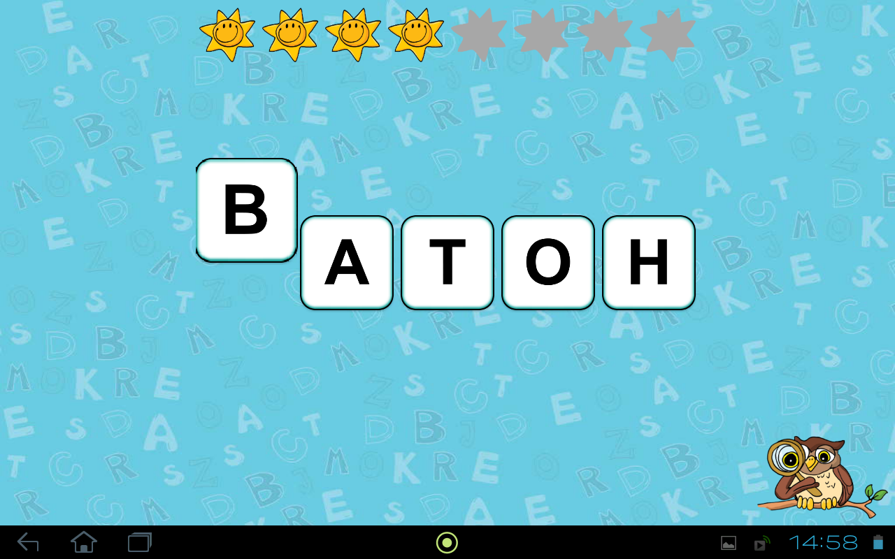 Abeceda pro děti - výukové hry- screenshot