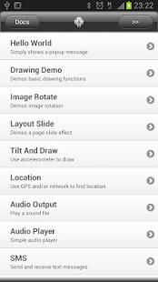 DroidScript - JavaScript Mobile Coding IDE - náhled
