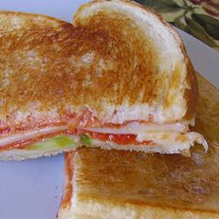 Grilled Pizza Sandwiches.