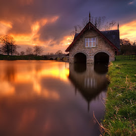 The Boathouse at Carton House by Oliver Almazan - Buildings & Architecture Other Exteriors ( ireland, sunset )