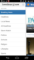 Screenshot of Lowell Sun News