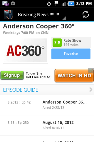 The Anderson Cooper 360 App
