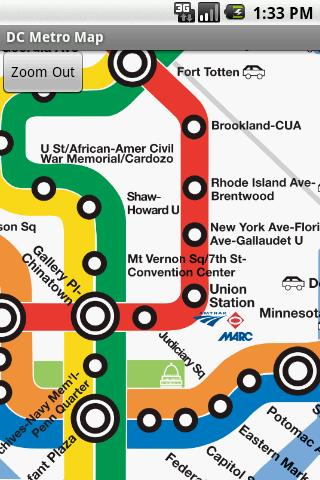 DC Metro Map- screenshot