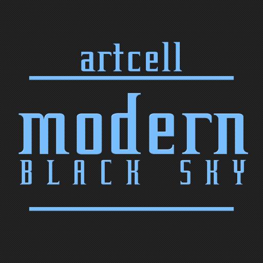 카카오톡 테마 - Modern Black Sky