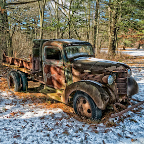 by Alan Roseman - Transportation Automobiles ( chevy truck, truck, rusted, chevy, abandoned, decay,  )