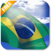 3D Brazil Flag Live Wallpaper