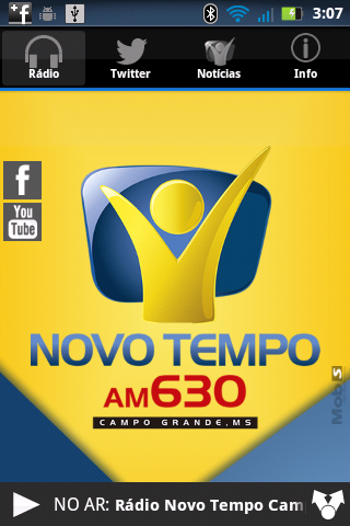 Rádio Novo Tempo 630 AM- screenshot