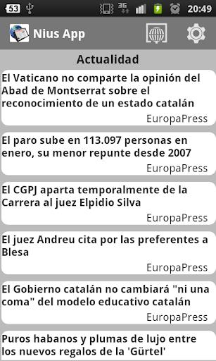 Noticias España NiusApp