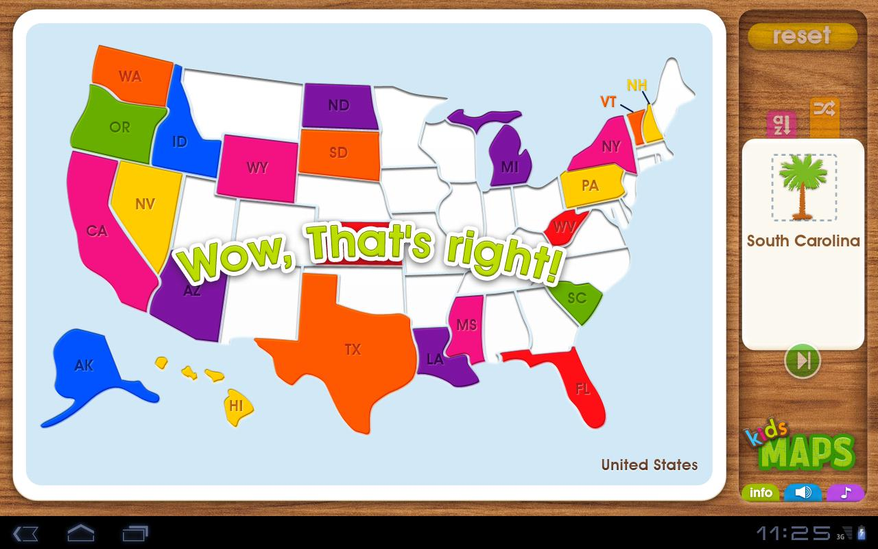 Kids Maps US Map Puzzle Google Play Store Revenue Download - Map of the us for kids