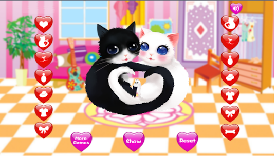 Heart Cats - Perky Dressup