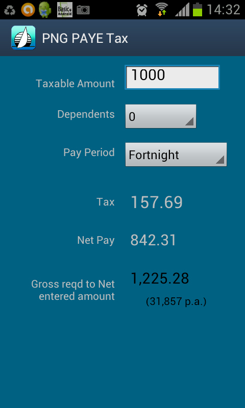 PNG PAYE Tax- screenshot