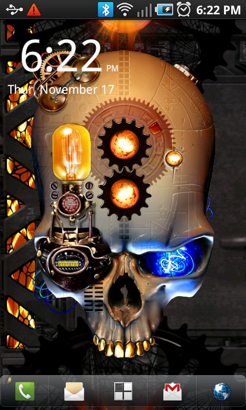Steampunk Skull Live Wallpaper - screenshot