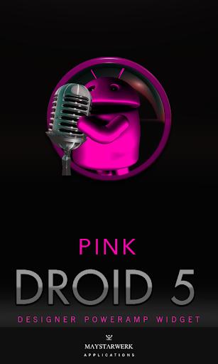 Poweramp Widget Pink Droid 5