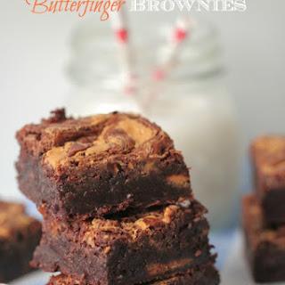 Peanut Butter Butterfinger Brownies.