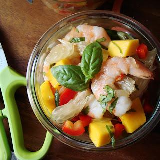 Pomelo Mango Shrimp Salad.