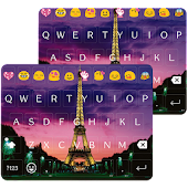 Paris Night Keyboard -Emoji