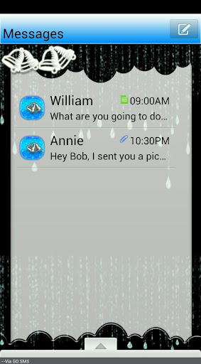 GO SMS THEME SleighBells2