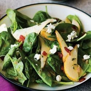 Strawberry, Spinach, and Pear Salad.