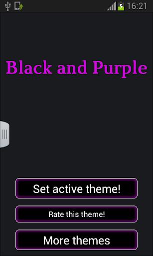 검은 색과 보라색 키보드