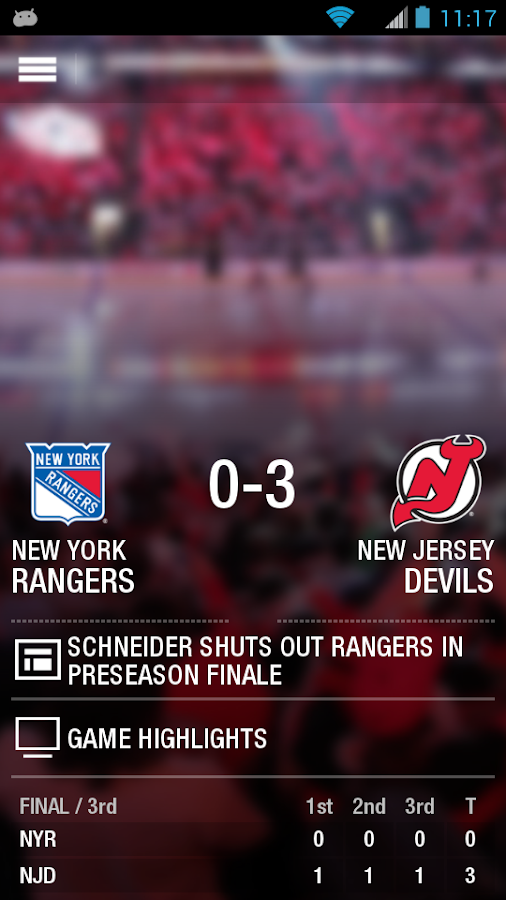 Official New Jersey Devils App- screenshot