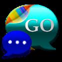 GO SMS Cyan Cobalt Theme icon