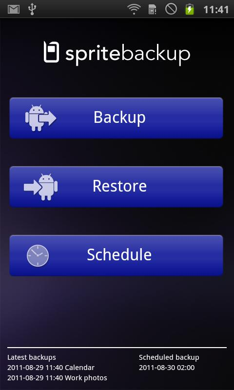 Sprite Backup - screenshot