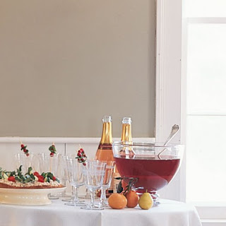 Cranberry, Tangerine, and Pomegranate Punch.
