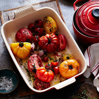 Roasted Heirloom Tomatoes with Garlic and Thyme