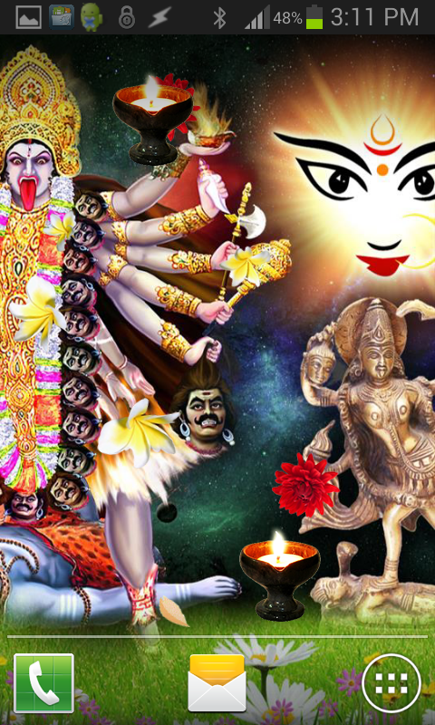 Jai MAA KALI HQ Live Wallpaper- screenshot