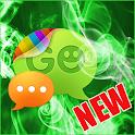 GO SMS Pro Green Smoke Theme logo