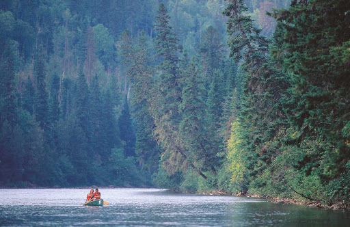 Canoeing in Gaspesie, Quebec, where it's just you and nature.